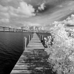 Wabasso Causeway Florida with boat dock