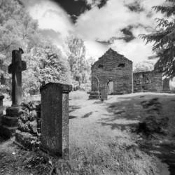 Infrared Scotland graveyard