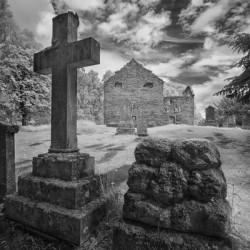 Tombstones at  Scotland graveyard