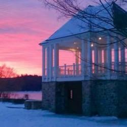 winter sunrise over the park
