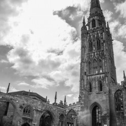 Coventry Cathedral Black and White