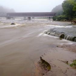 Grand River rapids at Harpersfield Covered Bridge Ohio