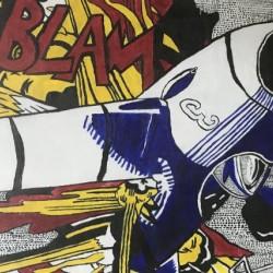 Tribute to Roy Lichtensteins BLAM