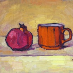 Pomegranate and Red Cup