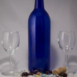 Blue Wine Bottle