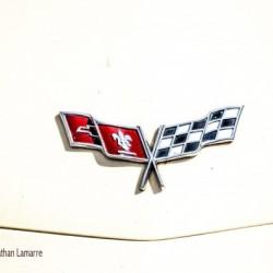 Corvette logo antique car