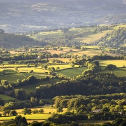 Fields and farmland of South Wales