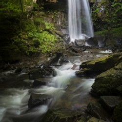 Moody Melincourt waterfall in South Wales