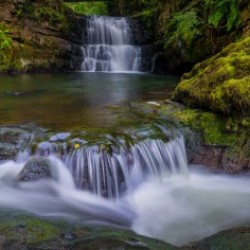 Dinas Rock waterfall