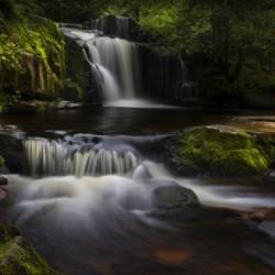 The waterfalls at Blaen y Glyn