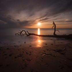 Sunset on Sker Beach