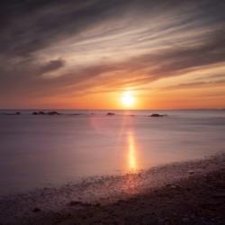 Sker Beach sunset