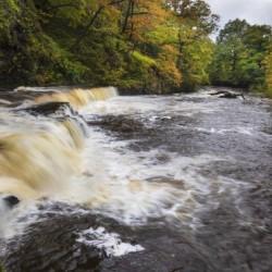The river Tawe in full flow
