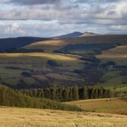 Brecon Beacons mountains panorama