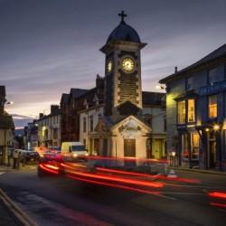 Rhayader town clock tower
