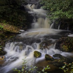 A small waterfall in Rhayader