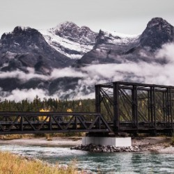 The Engine Bridge Canmore in Fall