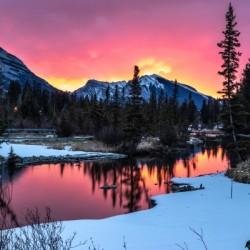 Sunrise At Policemans Creek Alberta