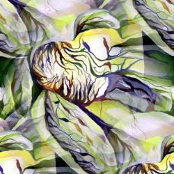 Art Nouveau Structural Floral Pattern