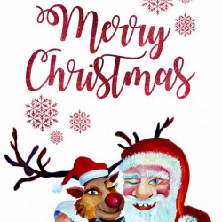 Magical Winter with Santa Claus and Funny Rudolph
