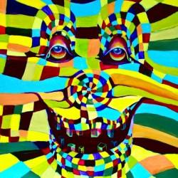 Watecolor Contermporary Pop Surrealism Clown