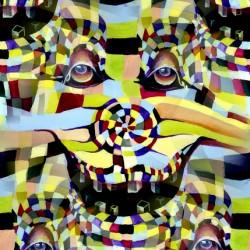 Clown Revelation in Seamless Pattern