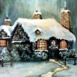 Magic Winter in Italy Artdeco