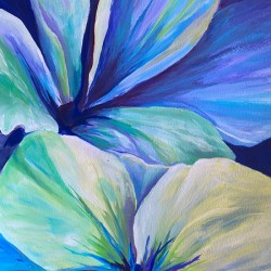 floral aqua Petals