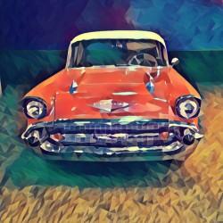 57 chevy car art