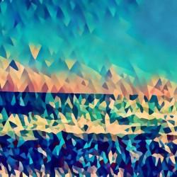 abstract blue sky ocean