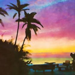 gulf of mexico sunset art