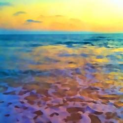 Yellow Sky at Manhattan Beach