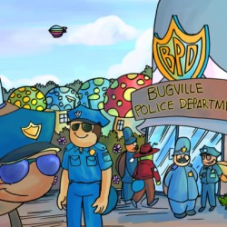 At the Police Department - Places in Bugville Collection 3 of 4