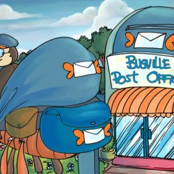 At the Post Office - Places in Bugville Collection 1 of 4