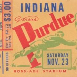 1940 Indiana vs. Purdue Football Ticket Canvas