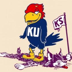 Fifties Kansas Jayhawk Cartoon Art