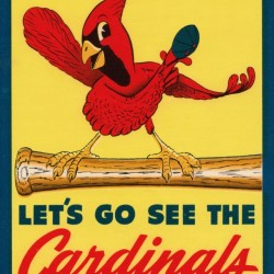 Vintage St. Louis Cardinals Baseball Art