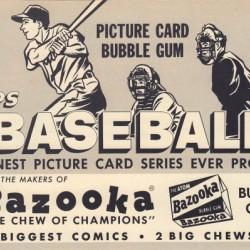 1955 Topps Baseball Bazooka Bubble Gum Vintage Metal Sign