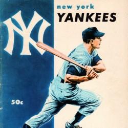 1956 New York Yankees Vintage Baseball Wall Art