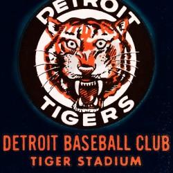 1963 Detroit Tigers Vintage Baseball Art