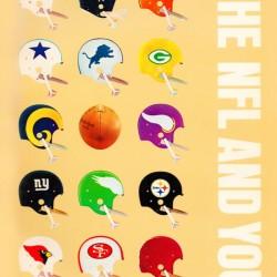 1963 Vintage NFL Football Helmet Poster
