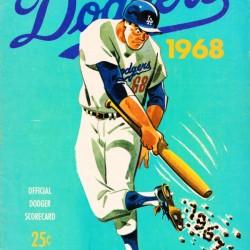 1968 Los Angeles Dodgers Scorecard Art