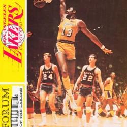1968 LA Lakers Retro Basketball Poster