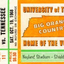 1968 Tennessee vs. Alabama Football Ticket Art