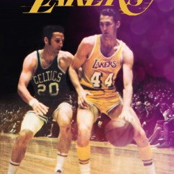 1969 Los Angeles Lakers Jerry West Art