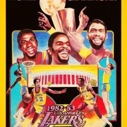 1982 LA Lakers Champion Poster