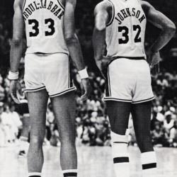 1984 Magic Johnson & Kareem Poster