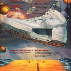 1984 Nike Air Force 1 Shoe Ad Poster