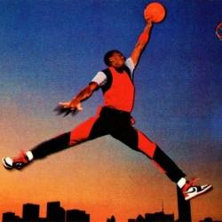 1985 Nike Promo Jordan Rookie Card Poster