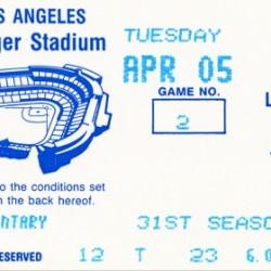 1988 LA Dodgers vs. Giants Baseball Ticket Canvas